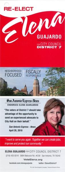 Elana Guajardo campaign flyer, MS 433
