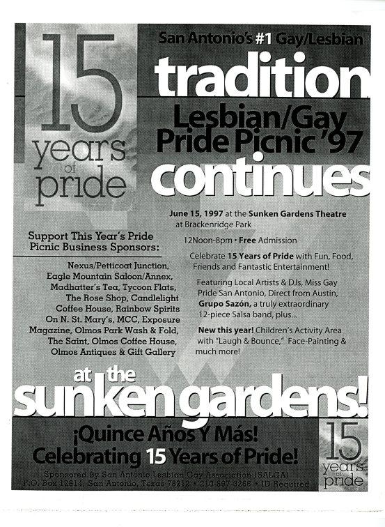 SALGA Pride Picnic flier, 1997