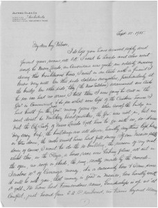 Letter to Palmer