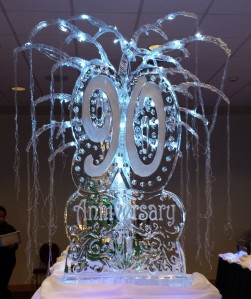 Pals 90th Anniversary Ice Sculpture