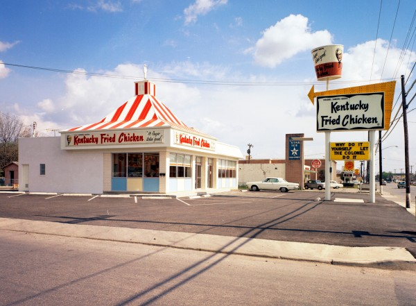 New Kentucky Fried Chicken restaurant, 3018 Fredericksburg Road at Olmos Drive, March 1968. (MS 355: Z-0752-B-1147)