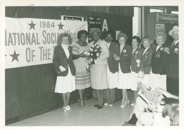Ms. Austin and friends, upon the occasion of being recognized as National Social Worker of the Year, 1984.