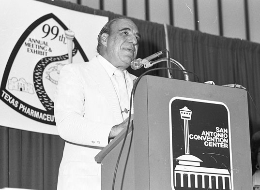 U. S. Rep. Henry B. Gonzalez speaks at Texas Pharmaceutical Convention, July 16, 1978. (San Antonio Express-News Collection, MS 360: E-0047-061-42)