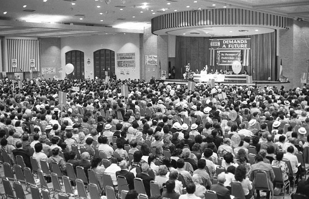 C.O.P.S. Convention in Banquet Hall, November 7, 1982. (San Antonio Light Collection, MS 359: L-7205-19-03)