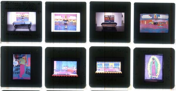 Slides of artwork by Tony Ortega