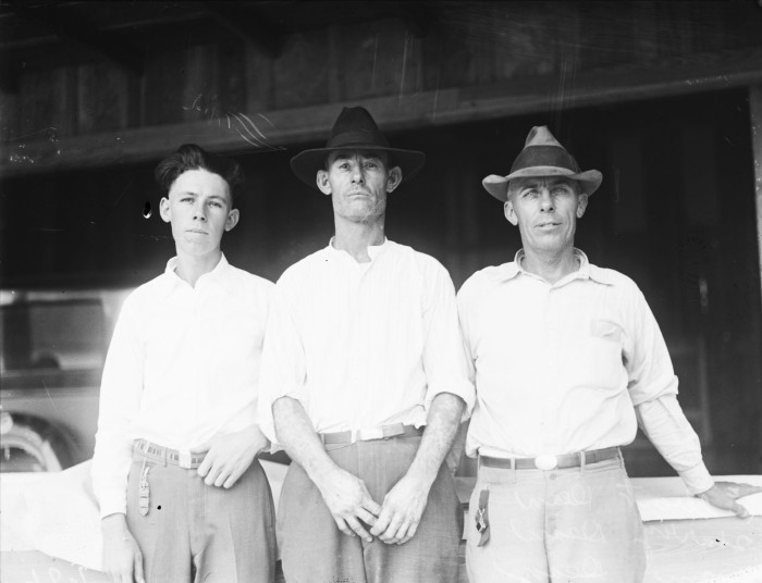 Dean Brothers (left to right) Elbert, Harry, and Sam, winners of the race. (MS 359: L-0686-D)