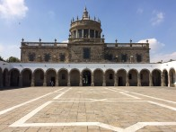 The Hospicio Cabañas in Guadalajara, Jalisco, Mexico, a World Heritage Site, is one of the oldest and largest hospital complexes in the Americas.