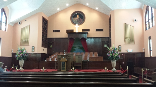 Inside the Ebenezer Baptist Church