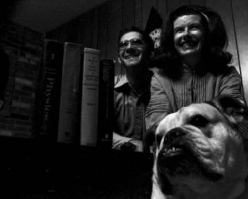 Mr. and Mrs. Jerry Bingham, with their English Bulldog, Winnie.