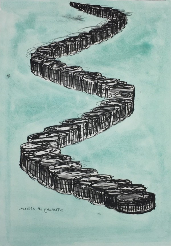 Stairway of Circles lithograph print