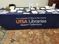 Special Collections' display of archival materials.