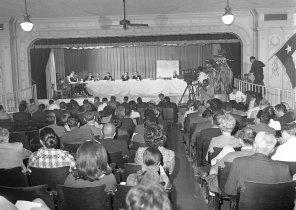 Hearing in OLLU's Chapel Auditorium, 1968