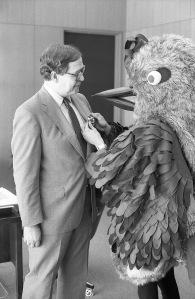 With President James Wagener, November 20, 1981.