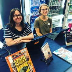 UTSA Reference Services manning the table for mobile checkout